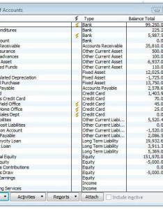 personal chart of accounts example www
