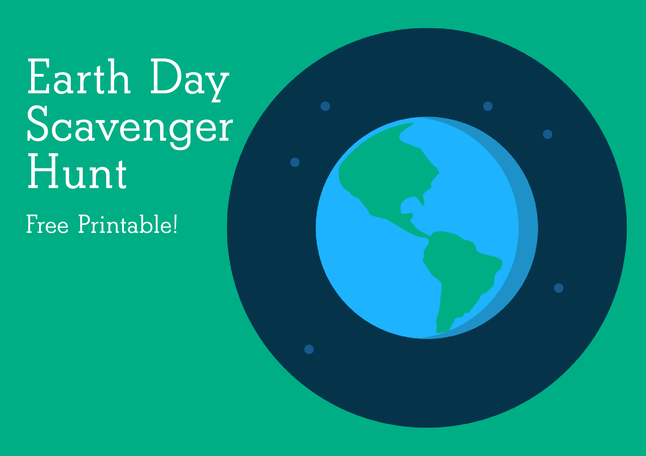 Earth Day Activity For Kids Free Printable Download