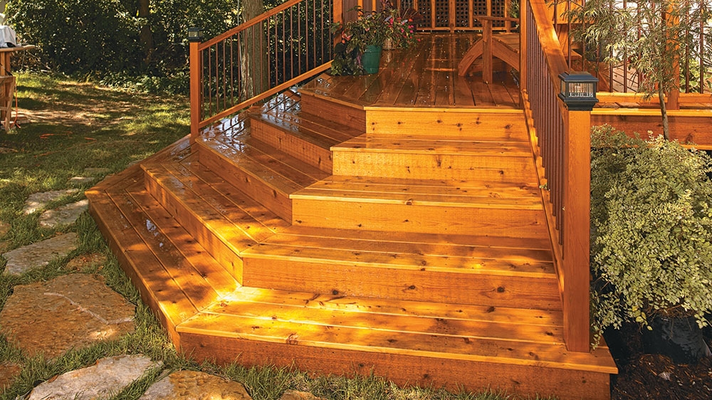 How To Build New Stairs For Your Deck | Building Half Round Wood Steps | Curved | Precast Concrete Steps | Outdoor | Concrete Slab | Risers
