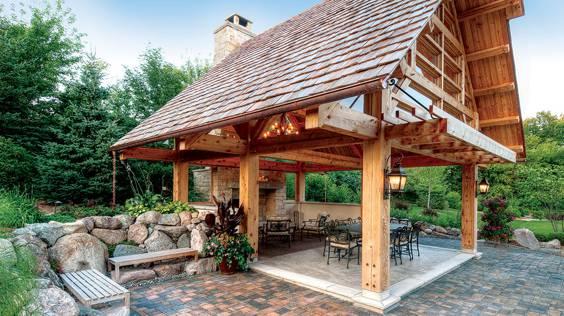 timber frame gazebo inspiration