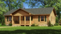 Lafayette Log Home Plan Southland Homes