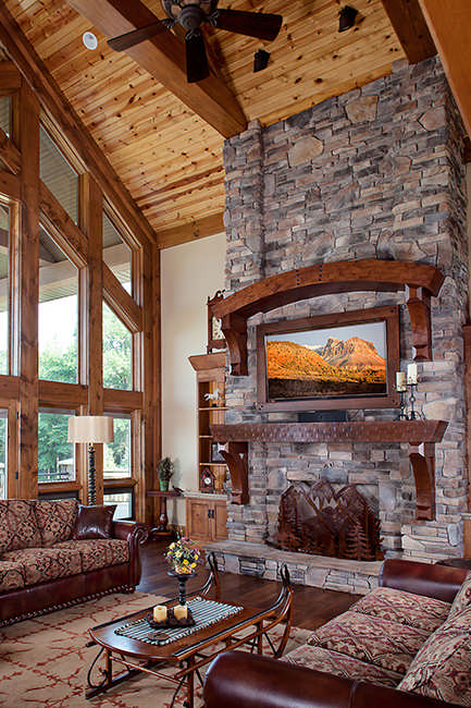 Jackson Version II Log Home Plan By Wisconsin Log Homes