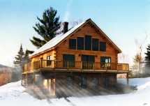 Alpine Log Home Plan Coventry Homes