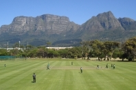 The beautiful backdrop of Table Mountain at the Western Province Cricket Club where the Last Man stands World Championships will be played