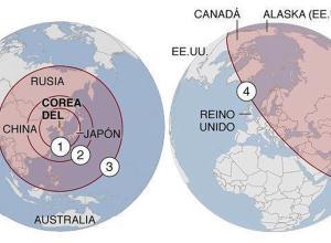 Chequea si estás al alcance de los misiles de Corea del Norte