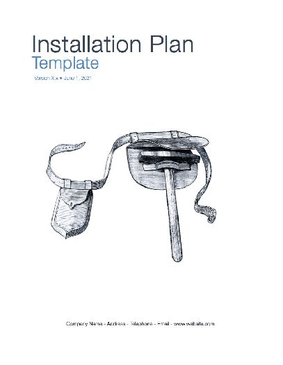 Installation Plan Template (Apple iWork Pages/Numbers)
