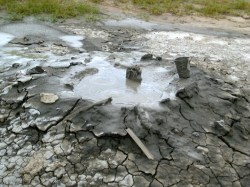 The largest of the mud volcanos.