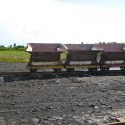 The old mining cars