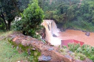 The waterfall that provides all the power for Tenwek