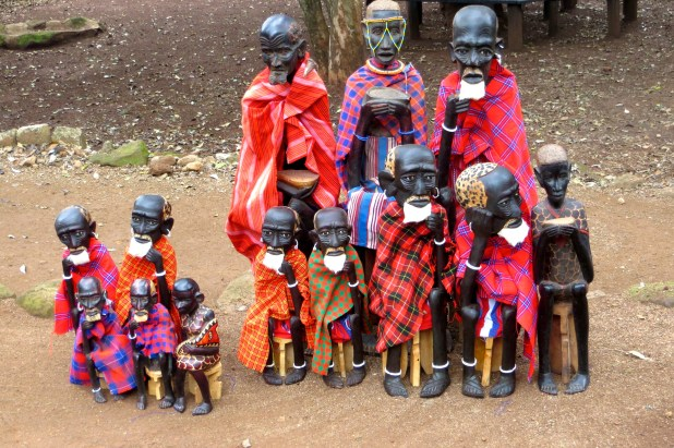 Statues of Masai Family