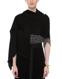 Black Evening Shawl | Bajra | Halsbrook