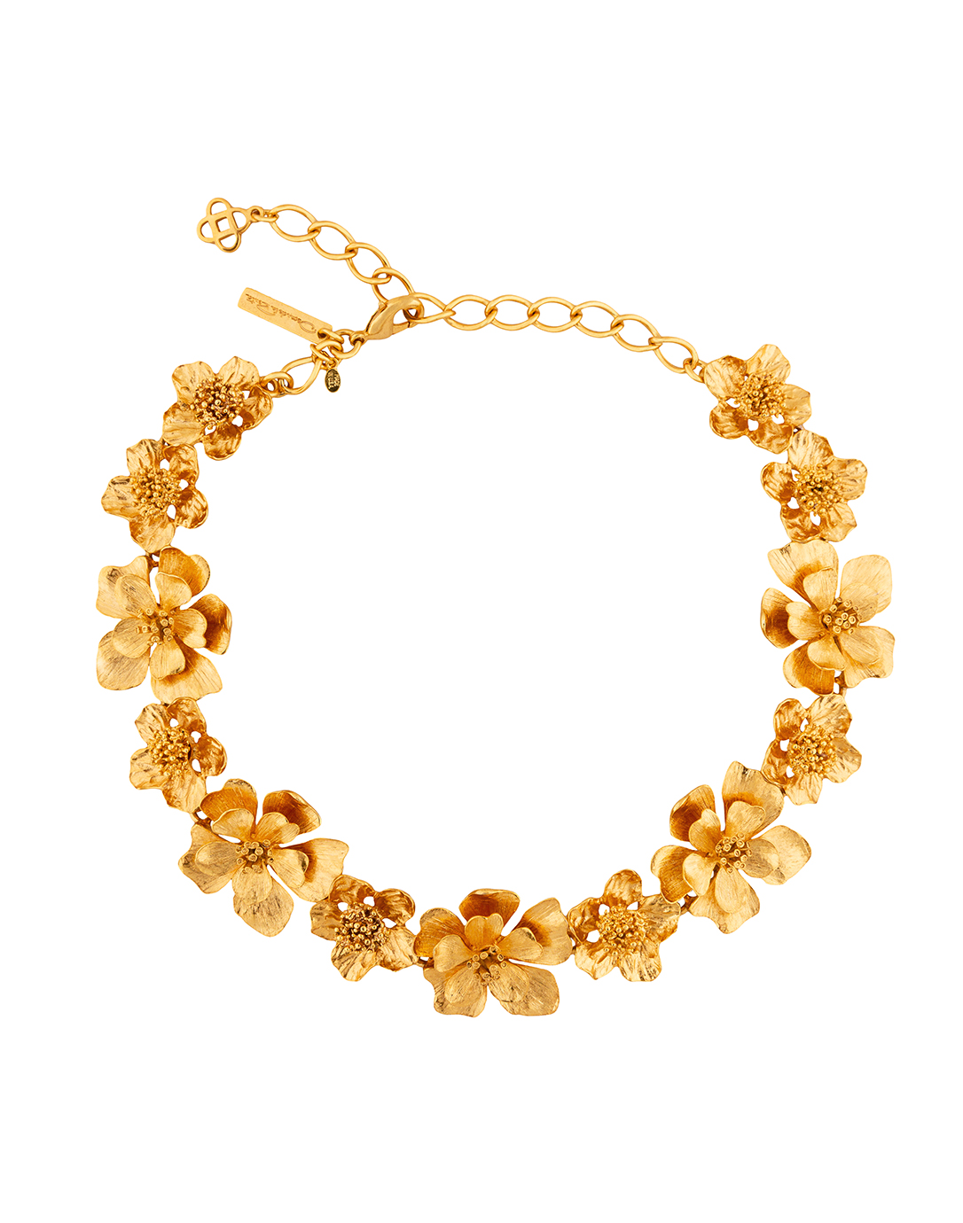 classic gold flower necklace