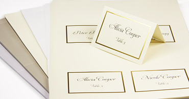 wedding place cards with