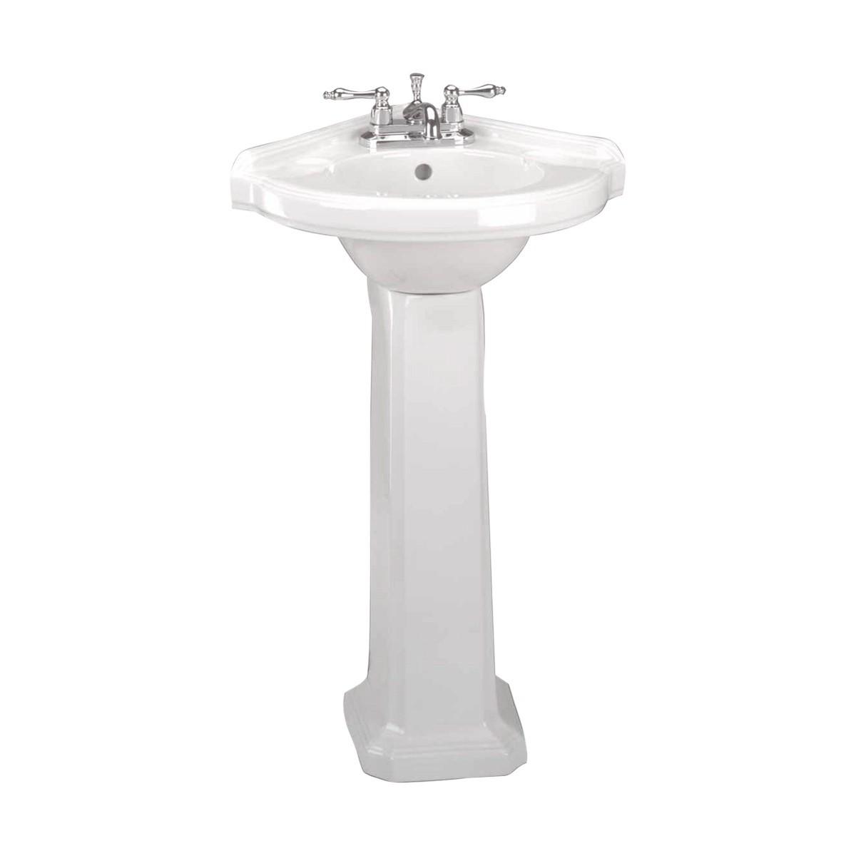 Corner Pedestal Sink  White Pedestal Sink  Renovators