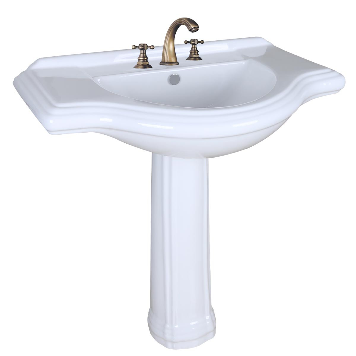 Large Pedestal Sink Bathroom Console 8 Widespread 34 W