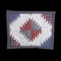 Cotton PIllow Sham Red White and Blue
