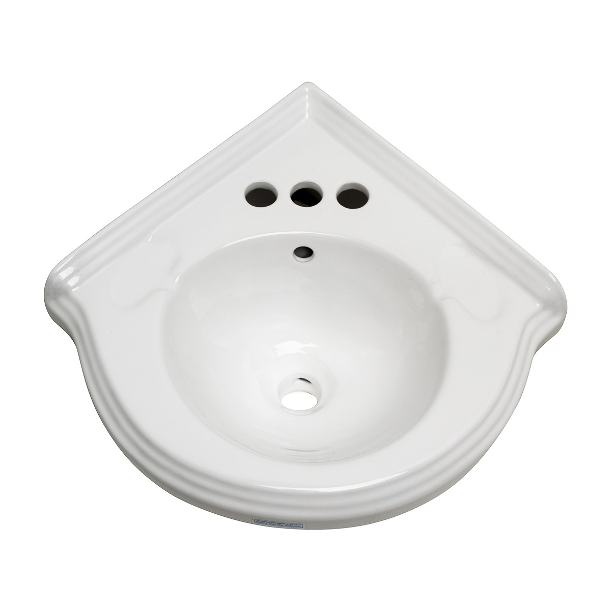 Corner Wall Mount Small Bathroom Sink White Ceramic