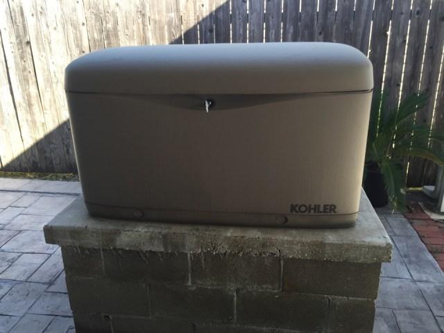 Arabi, LA - Doing preventive maintenance ok Kohler generator.