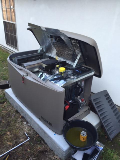 River Ridge, LA - Provided preventive maintenance plan on home standby generator installation for a Kohler generator.