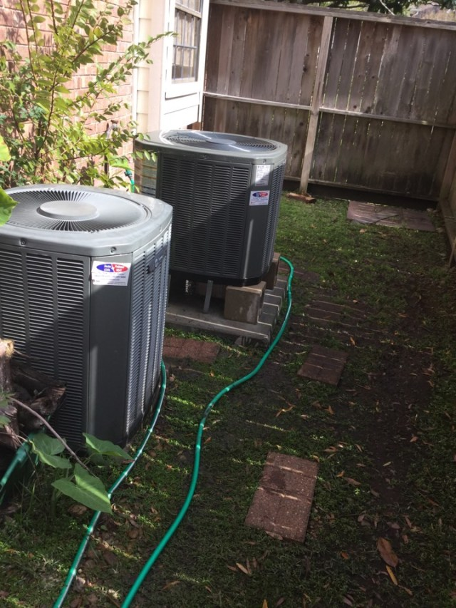 Houston, TX - Ac tune up on 2 Trane units in clear lake cleaning units and checking operation