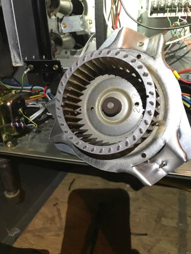 Sugar Land, TX - Gas furnace repair. Exhaust motor failed.