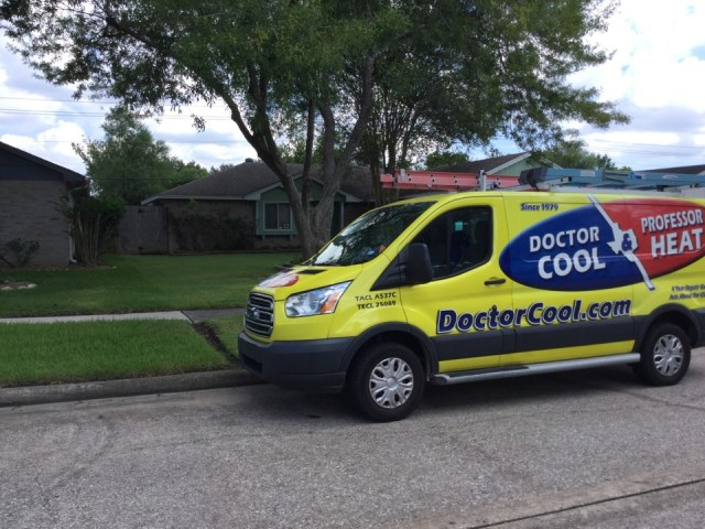 Webster, TX - Ac service call. Found clogged condensate drain causing the safety switch to break the low voltage circuit to the outdoor condensing unit. Cleared the drain line and checked system operation.