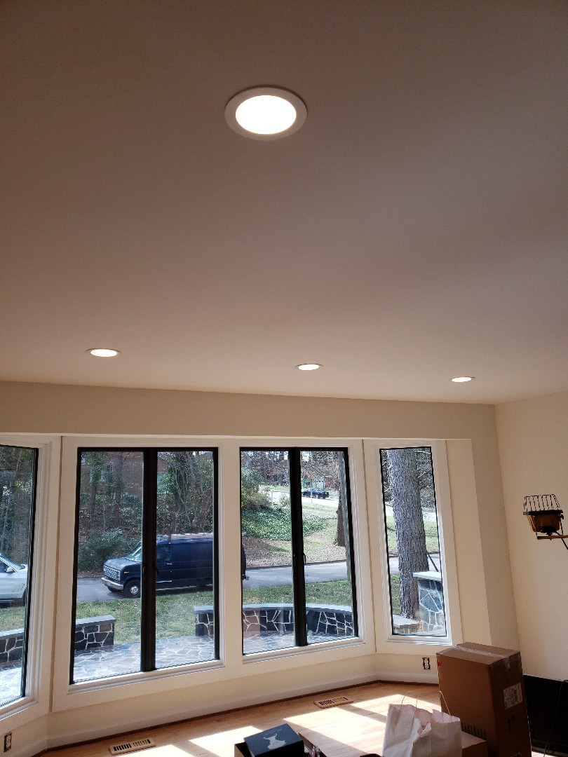 Raleigh, NC - Installing recess lights in living room