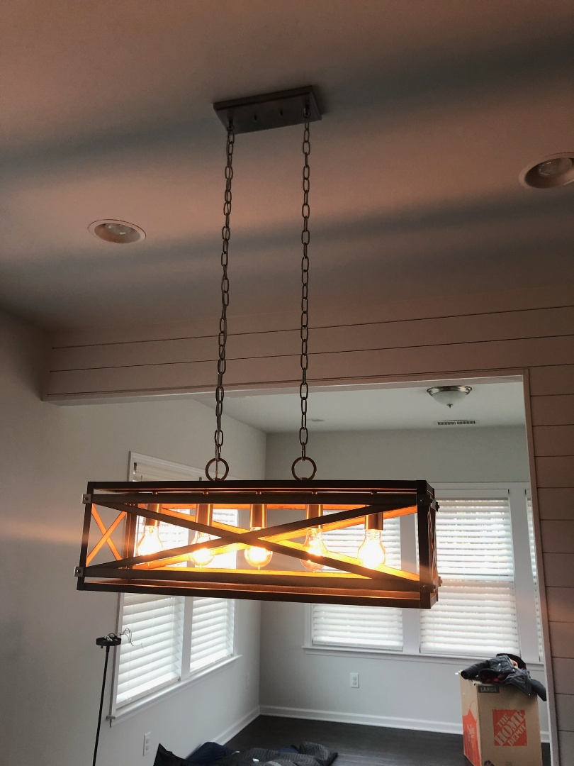 Clayton, NC - Installing lights and wiring for flat panel TVs