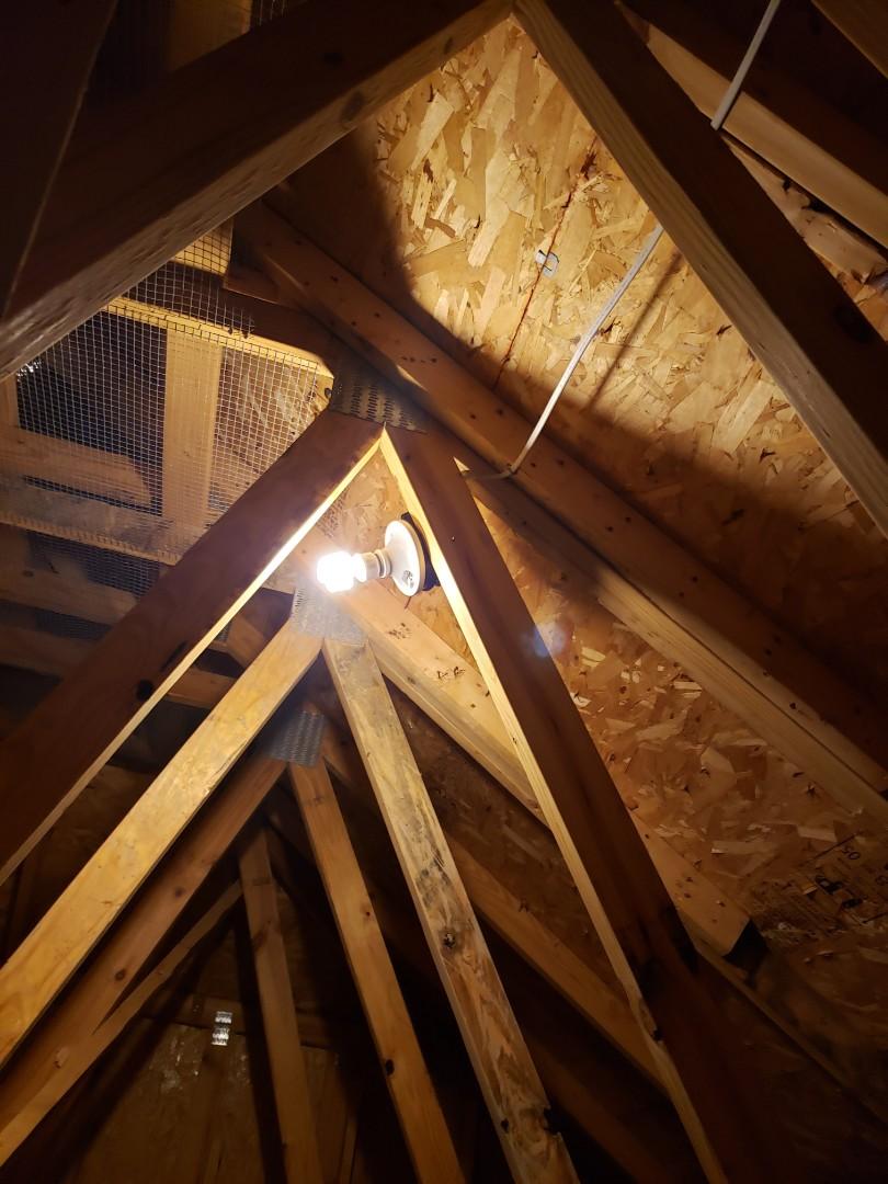 Cary, NC - Installing attic lights