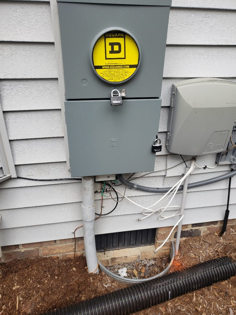 Morrisville, NC - Replacing meter base