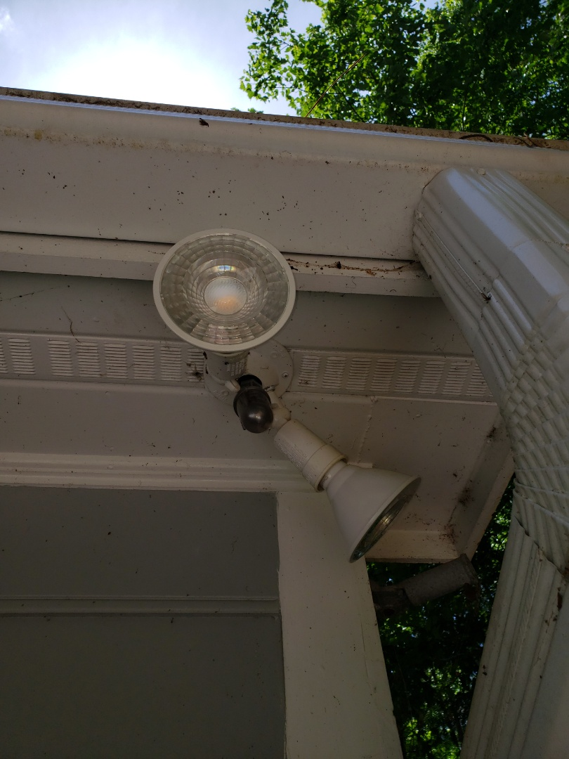 Cary, NC - Installing  Photo cell on spotlights