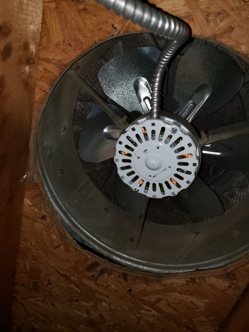 Wake Forest, NC - Install customer supplied attic fan