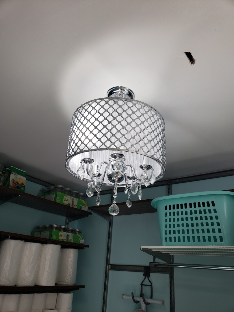 Raleigh, NC - Box and install customer supplied chandelier