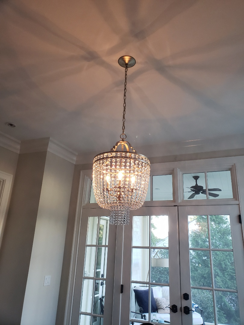 Raleigh, NC - Installed customer supplied chandelier