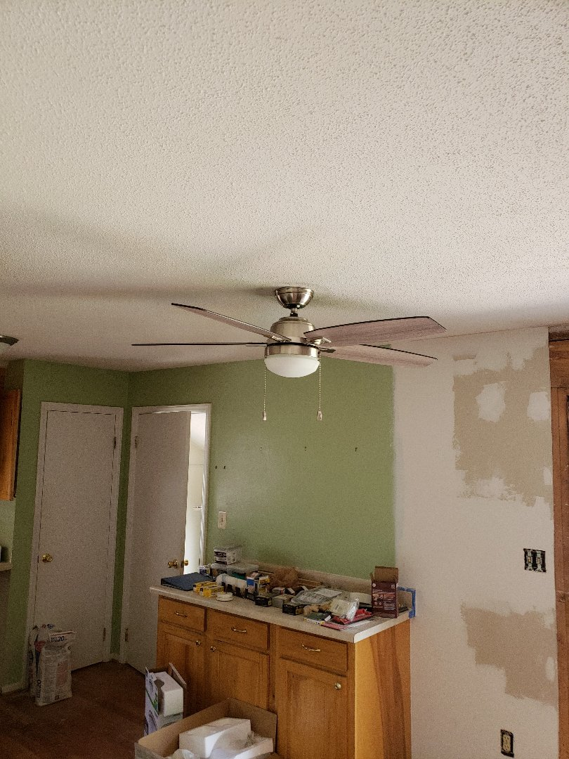 Raleigh, NC - Installed  cumberInstalled  customer  supplied  ceiling fans