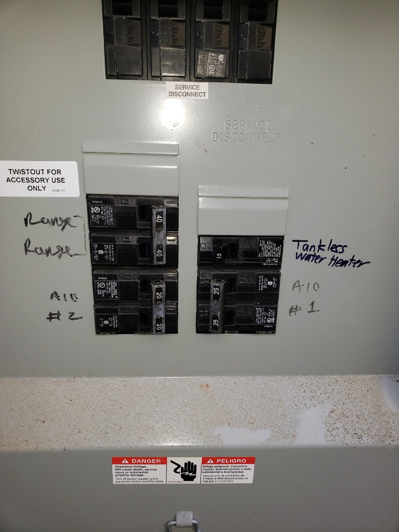 Raleigh, NC - Add new circuit for tankless water heater