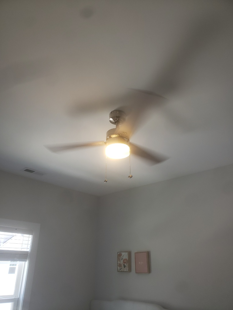 Cary, NC - Installed two customer supplied ceiling fans
