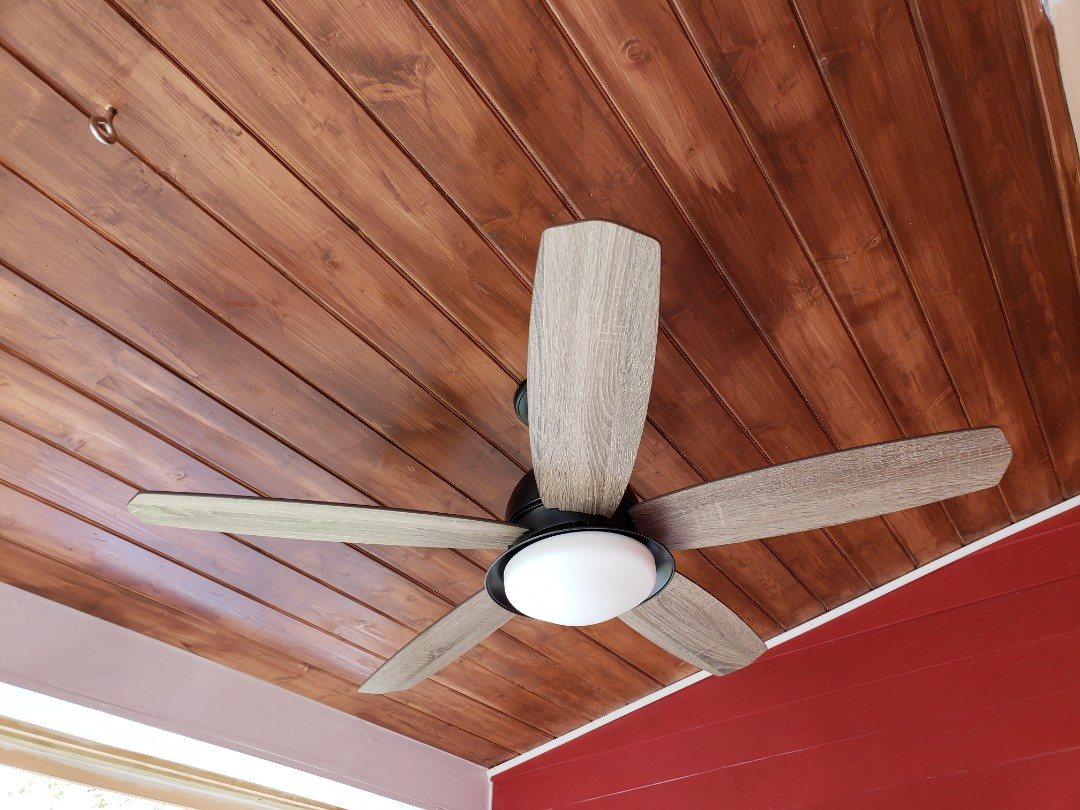 Raleigh, NC - Install 2 outdoor ceiling fans in back porch