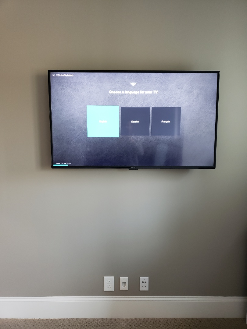 Wake Forest, NC - Install and mount new TV and outlet in the game room