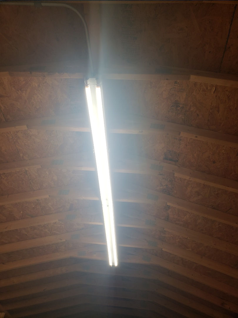 Garner, NC - Install new 8ft t12 retrofit led bulbs in storage room
