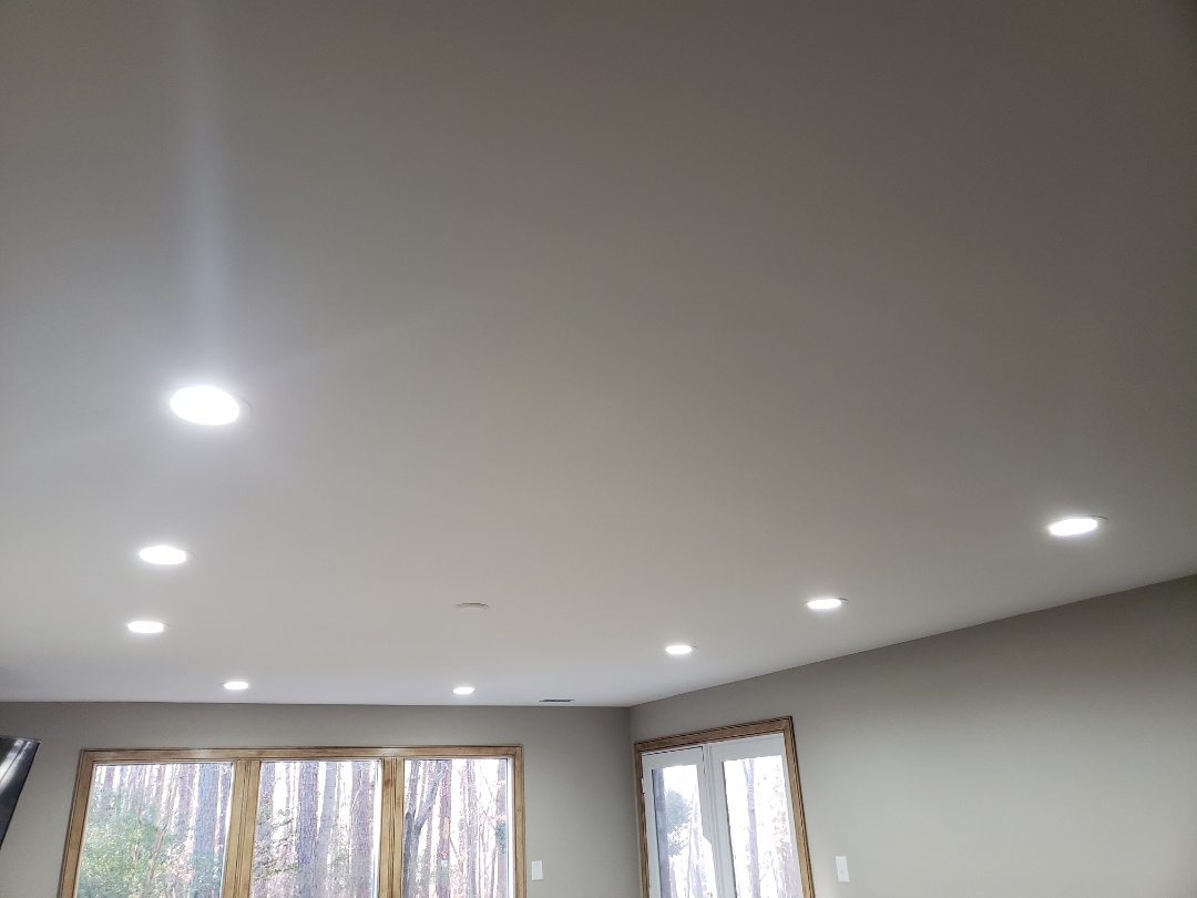 Raleigh, NC - Repair led down lights in mans cave.