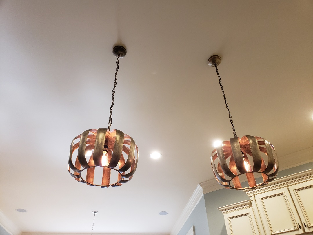 Raleigh, NC - Install TV and pendent lights and dining light