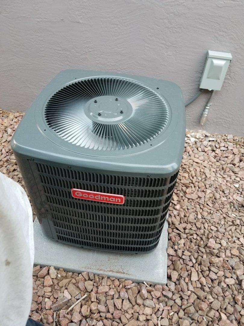 medium resolution of colorado springs co full goodman air conditioning system install