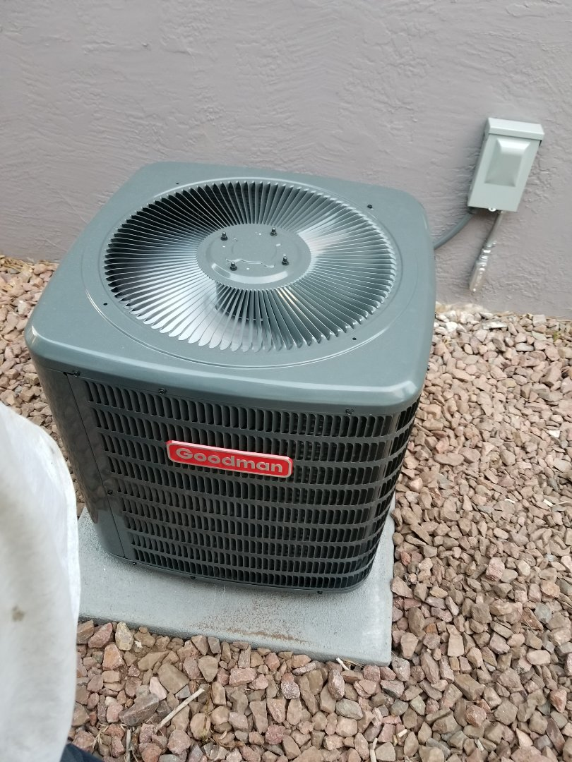hight resolution of colorado springs co full goodman air conditioning system install