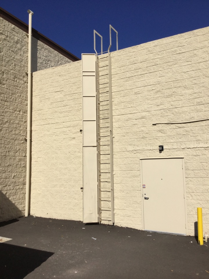 Lake Forest, CA - Commercial maintenance - Full length latter access cover. #roofsecurity