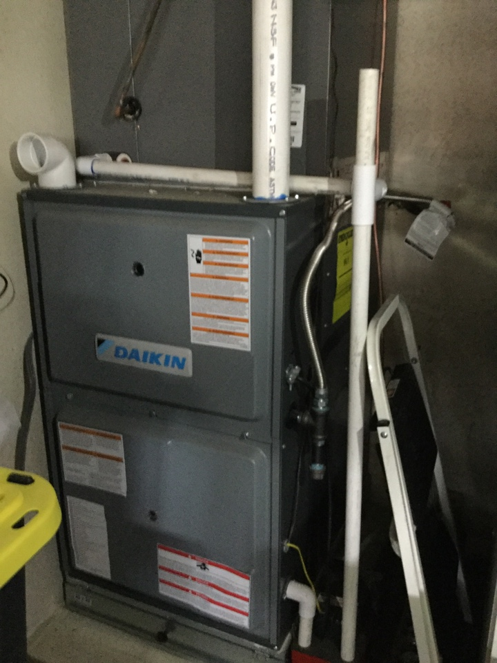 Lake Forest, CA - Inspecting furnace install