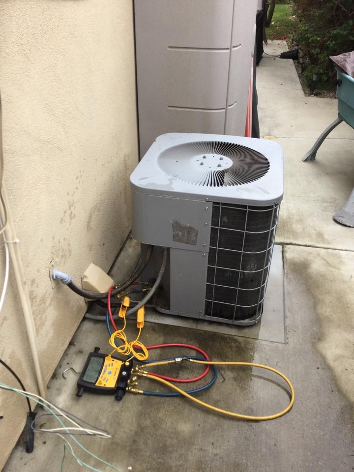 Mission Viejo, CA - Performing maintenance on this R22 unit