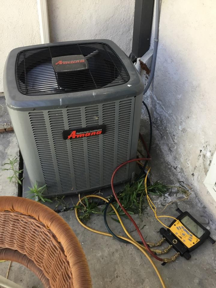 Buena Park, CA - Service call added refrigerant and UV dye