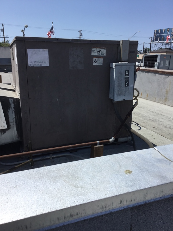 Long Beach, CA - Preventive maintenance on 2commercial package unit