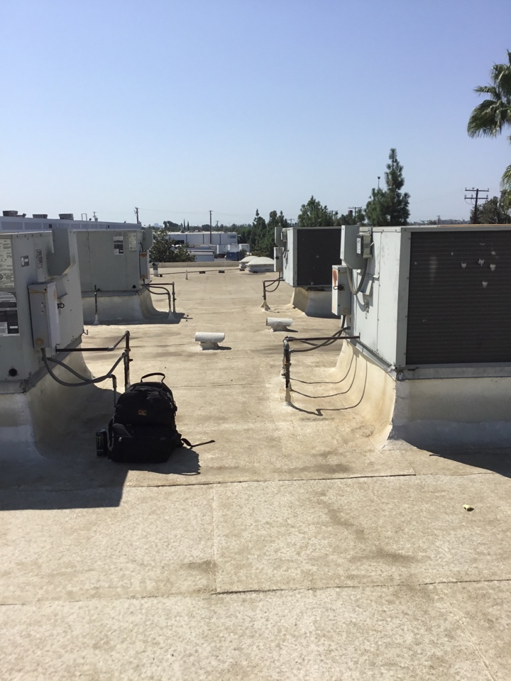 Fullerton, CA - Preventing maintenance on six package units
